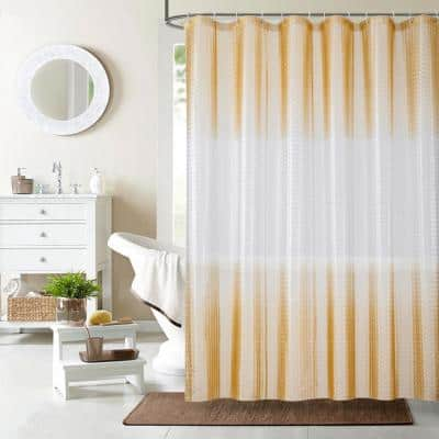 Mist 70 in. x 72 in. Liner Ivory 3D Eco-Friendly Shower Curtain