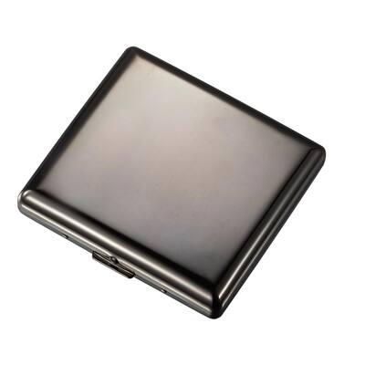 Venus Gunmetal Stainless Steel Cigarette Case (20-Cigarettes)