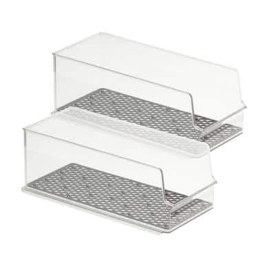 HExA In Fridge 2-Piece Set of Stackable Tall Can Bins for Storage