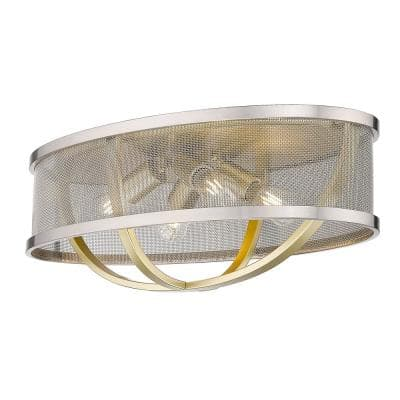 Colson 24 in. 4-Light Olympic Gold Flush Mount