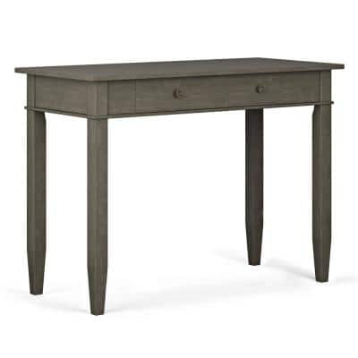 Carlton Solid Wood Transitional 42 in. Wide Home Office Desk in Farmhouse Grey