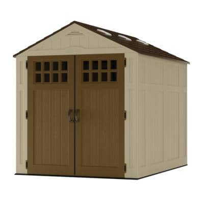 Everett 6 ft. 2.75 in. x 8 ft. 1.75 in. Resin Storage Shed