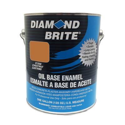 1 gal. Chestnut Oil Base Enamel Interior/Exterior Paint