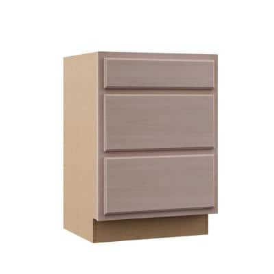 Hampton Unfinished Beech Raised Panel Stock Assembled Drawer Base Kitchen Cabinet (24 in. x 34.5 in. x 24 in.)