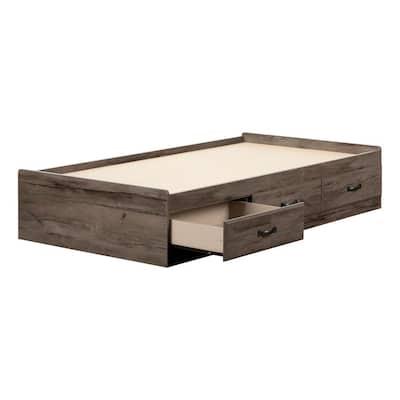 Asten Brown Fall Oak Twin Bed