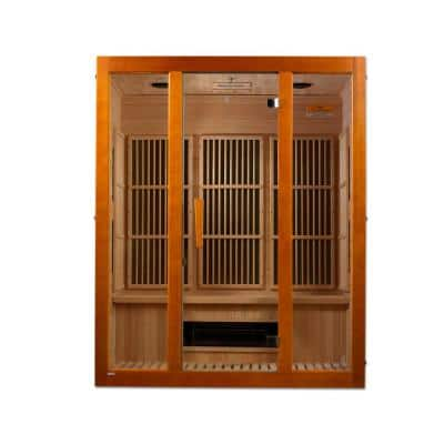 Alpine Lifesauna 3-Person Infrared Sauna with 5 Dual Tech Infrared Heaters and Chromotherapy