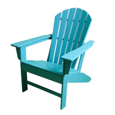 Blue HDPE Plastic/Resin Adirondack Chair