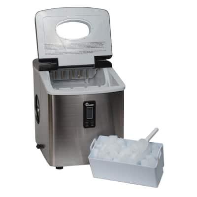 35 lb. Freestanding Ice Maker in Stainless Steel