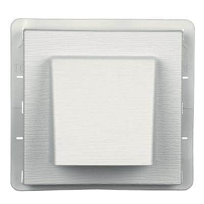 8 in. x 7.875 in. Water Management 4 in. Hooded Vent in #123 White