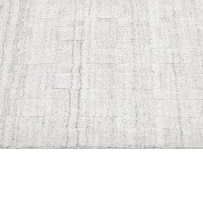 Peyton Contemporary Modern Alabaster 10 ft. x 14 ft. Hand Loomed Area Rug