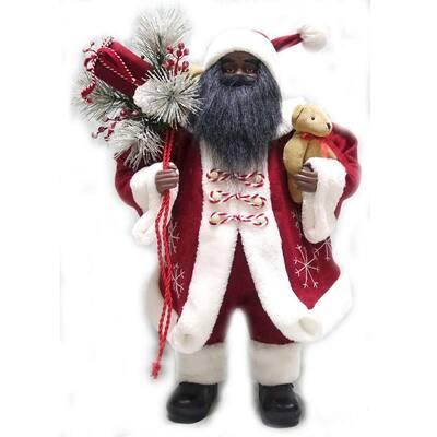 24 in. Fabric Ethnic Santa