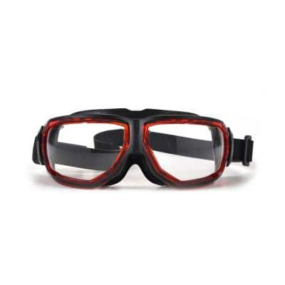 Artech Splash Red/Black Safety Goggles with Anti-Fog Lens and Neoprene Strap