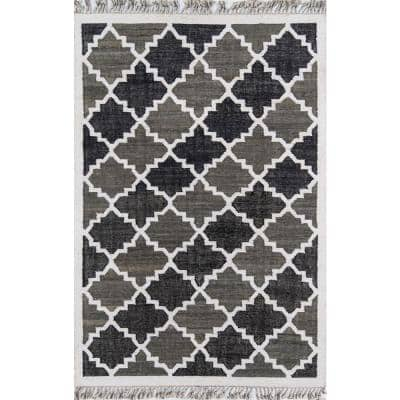 California Greyback Charcoal 2 ft. 6 in. x 4 ft. Indoor Area Rug