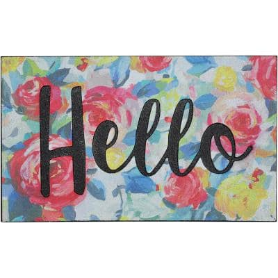 Impressionist Hello 18 in. x 30 in. Doorscapes Mat