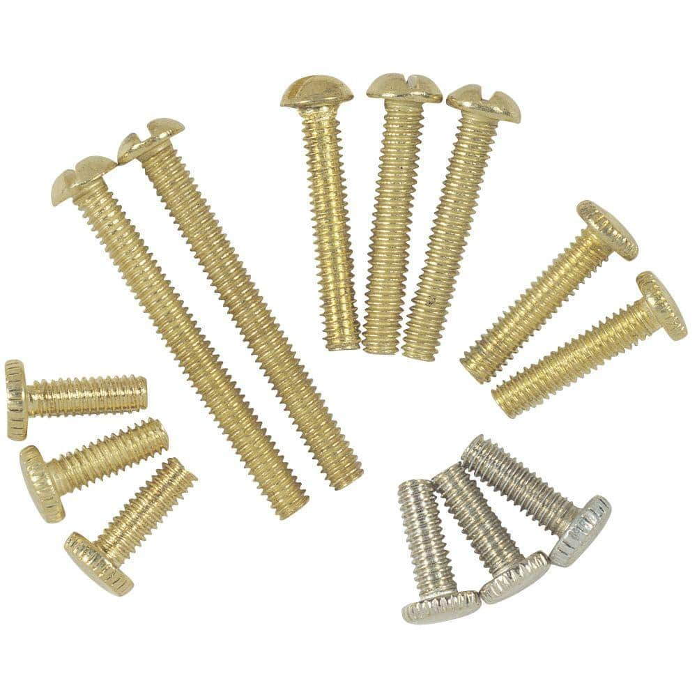 Commercial Electric Assorted Fixture Screws 13 Piece 81985 The Home Depot