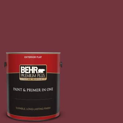 1 gal. #S130-7 Cherry Cola Flat Exterior Paint and Primer in One