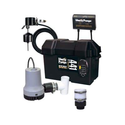 1/3 HP Battery Back-Up Emergency Sump Pump System with Alarm