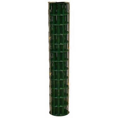 4 ft. x 100 ft. 14-Gauge Green PVC-Coated Welded Wire