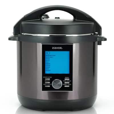 LUX LCD 6 qt. Black Electric Multi-Cooker