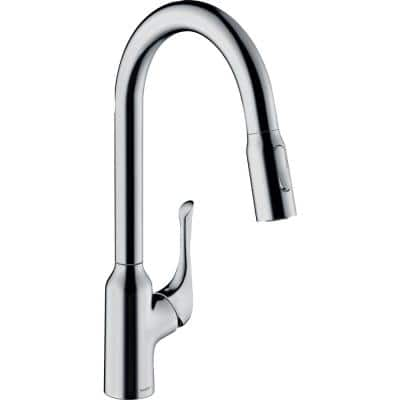 Allegro N Single-Handle Pull-Down Sprayer Kitchen Faucet in Chrome