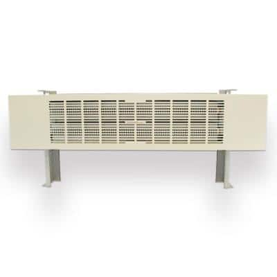 Concealed Baseboard Dual Heating Unit CBU-2000 24in x 2 2000BTU Dual Hydronic in White- (1-Pack)