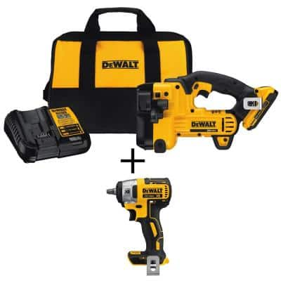 20-Volt MAX XR Cordless Barrel Grip Jigsaw with (1) 20-Volt 2.0Ah Battery & 3/8 in. Impact Wrench