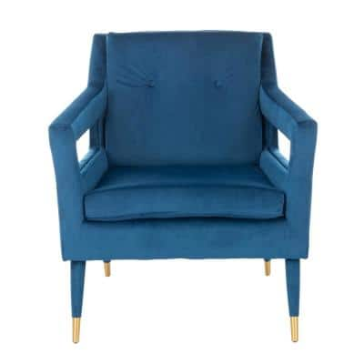 Mara Navy Upholstered Accent Arm Chair