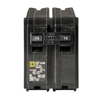 Homeline 15 Amp 2-Pole Circuit Breaker (6-pack)