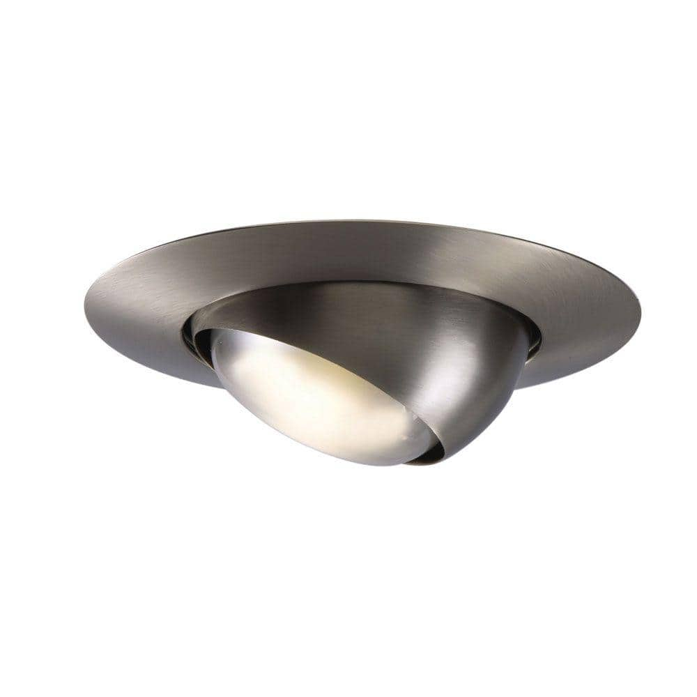 Halo 6 In Satin Nickel Recessed Ceiling Light Trim With Adjustable Eyeball 78sn The Home Depot