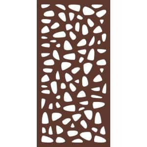 6 ft x 3 ft Espresso Brown Decorative Composite Fence Panel featured in the Stonewall Design