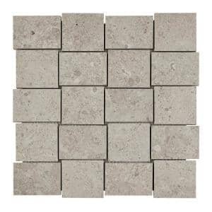 Adelaide White Matte 12 in. x 12 in. x 9.5 mm Porcelain Mosaic Floor and Wall Tile (0.97 sq. ft./Each)