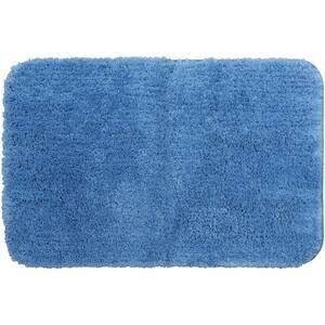 Duo Blue 20 in. x 32 in. Nylon Machine Washable Bath Mat