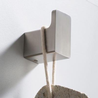 Stelios Bathroom Robe and Towel Hook in Brushed Nickel