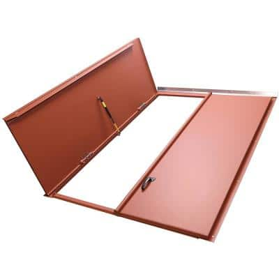 Classic Series 51.25 in. x 74.50 in. Primed Steel Replacement Cellar Door for Sloped Foundation