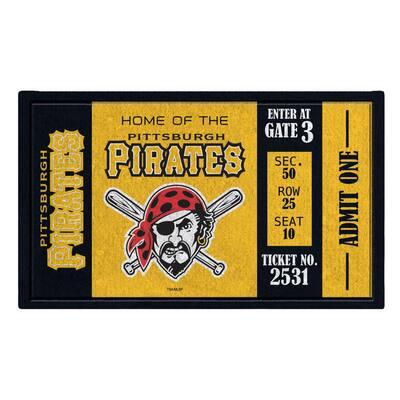 Pittsburgh Pirates 30 in. x 18 in. Vinyl Indoor/Outdoor Turf Floor Mat