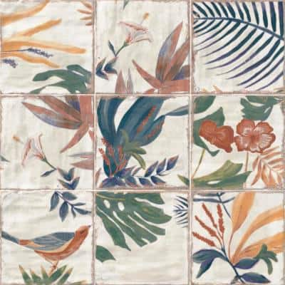 Angela Harris Sonata Decor 8 in. x 8 in. x 9mm Polished Ceramic Wall Tile (25 pieces / 10.76 sq. ft. / box)