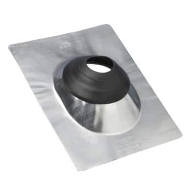 No-Calk 12 in. x 15 in. Galvanized Steel Vent Pipe Roof Flashing with 4 in. Diameter