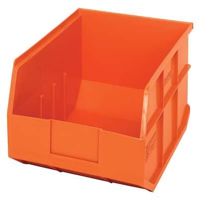 Stackable Shelf 19-Qt. Storage Tote in Orange (6-Pack)