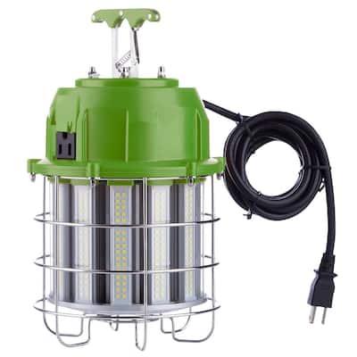 12,000 Lumens 100-Watt High Bay Temporary Job Site Hanging LED Work Light with 360° Light and 10' Power Cord