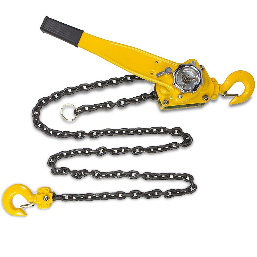 1.5-Ton Steel Block Chain Lever Hoist Puller Lifter 10 ft.