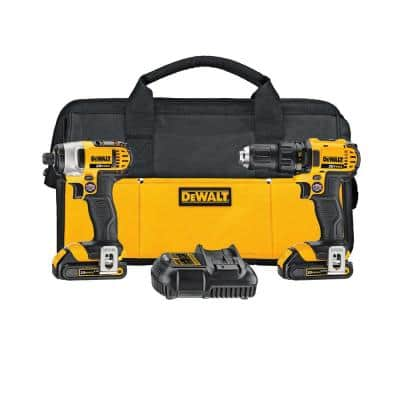 20-Volt MAX Cordless Drill/Impact Combo Kit (2-Tool) with (2) 20-Volt 1.5Ah Batteries, Charger & Bag