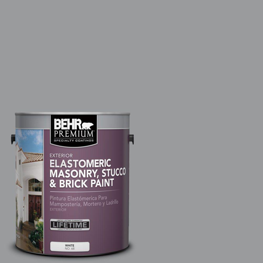 1 gal. #MS-82 Cobblestone Grey Elastomeric Masonry, Stucco and Brick Exterior Paint