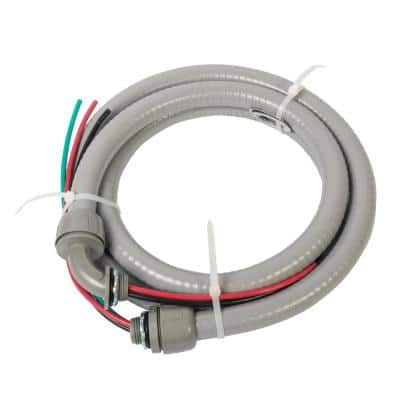 1/2 in. x 6 ft. 10/3 Non-Metallic Flexible Liquidtight A/C Electrical Whip (1-Pack)