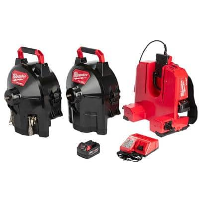 M18 FUEL 18-Volt Lithium-Ion Brushless Cordless Drain Cleaning 1/2 in. Switch Pack Sectional Drum System Kit