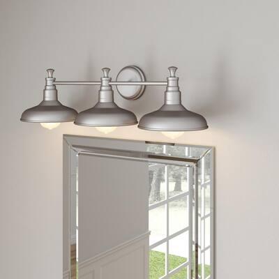 Kimball 3-Light Galvanized Steel Indoor Vanity Light
