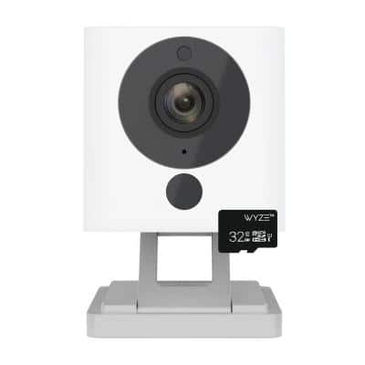 1080p HD Wi-Fi Indoor Smart Home Camera with 32GB Card, Alexa Enabled Free 14-Day Cloud Storage Night Vision