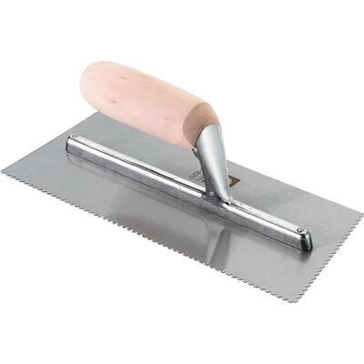 3/32 in. x 3/32 in. Flat V-Notch Flooring Trowel