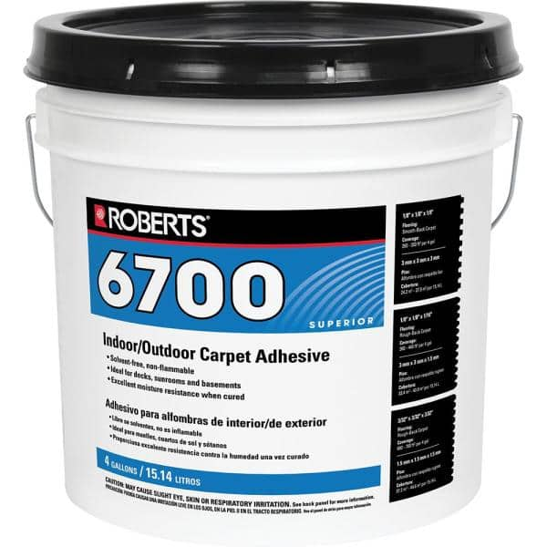 Roberts 4 Gal Indoor Outdoor Carpet And Artificial Turf Adhesive 6700 4 The Home Depot