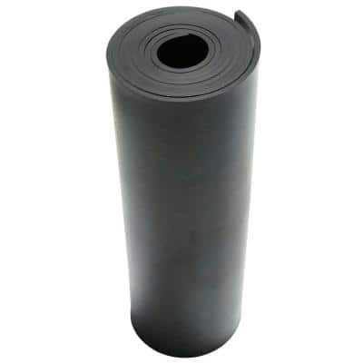 50A Durometer Neoprene Sheet - 1/8 in. T x 12 in. W x 12 in. L - Smooth Finish - Black Rubber Sheet (1 sq. ft.)