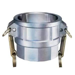 1-1/2 in. Part D Aluminum Female Coupler for Lay Flat Discharge Backwash and Suction Hoses